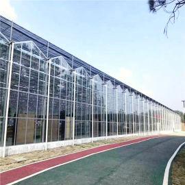 甘肃玻璃温室建设 连栋玻璃温室承建 蔬菜大棚造价