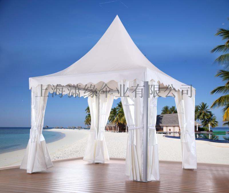 尖頂歐式展覽遮陽篷製作廠家 白色帆布尖頂帳篷定製廠