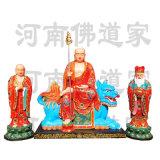 普贤菩萨坐白象彩绘塑像