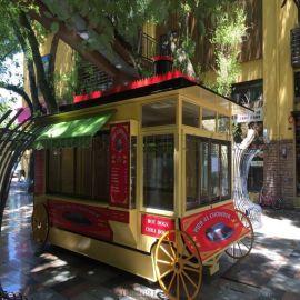 售卖亭 创意公交车造型景观售卖亭