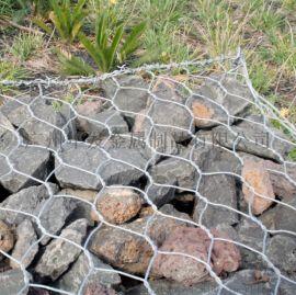 厂家直销镀锌石笼网包胶六角网河道水利治理格宾网