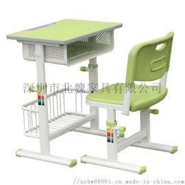 广东**学生教室单人升降课桌椅(中小学)