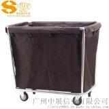 专业生产SITTY斯迪90.3202不锈钢斜柱布草车/服务车