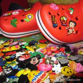 PVC鞋花,滴塑鞋花鞋扣,卡通鞋花