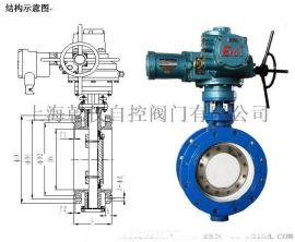 上海乾仪D941F-16C DN300精小型电动蝶阀