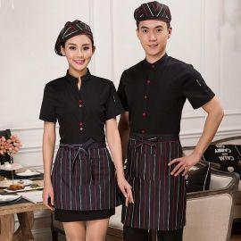 定做快餐西餐厅咖啡店服务员短袖前台收银制酒店工作服夏装女