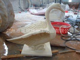 仿砂岩天鹅艺术喷泉 喷水池雕塑 喷水天鹅定制厂家