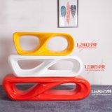 广州工厂直销玻璃钢日字型休闲椅 玻璃钢创意家具 大型商场座椅