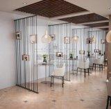 镜面钛金 拉丝玫瑰金屏风 酒店餐厅装饰隔断