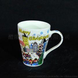 加工定制 圣诞系列卡通陶瓷马克杯 小天使节日陶瓷马克杯圣诞杯
