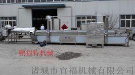 豆腐全自动油炸线 豆腐自动油炸机 质保一年