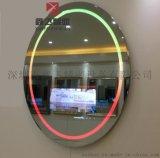 鑫飛常規鏡面電視多功能智慧鏡子衛浴間帶氛圍燈橢圓鏡