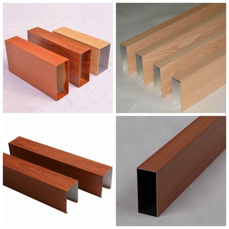 鋁方通   造型門頭廣告牌四方管 熱轉印鋁管 牆面裝飾方通