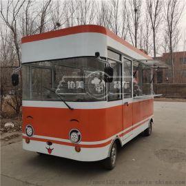 新款钣金电动四轮小吃车能做小吃卖货办公等