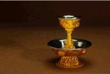 平阳标牌厂家特批密宗佛教法器藏式合金不锈钢护法杯摆件大号八吉祥护法杯