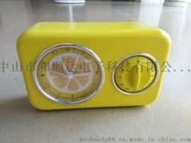 60分钟定时器闹钟  带闹钟的石英座钟 定时器桌钟 学生提醒座钟