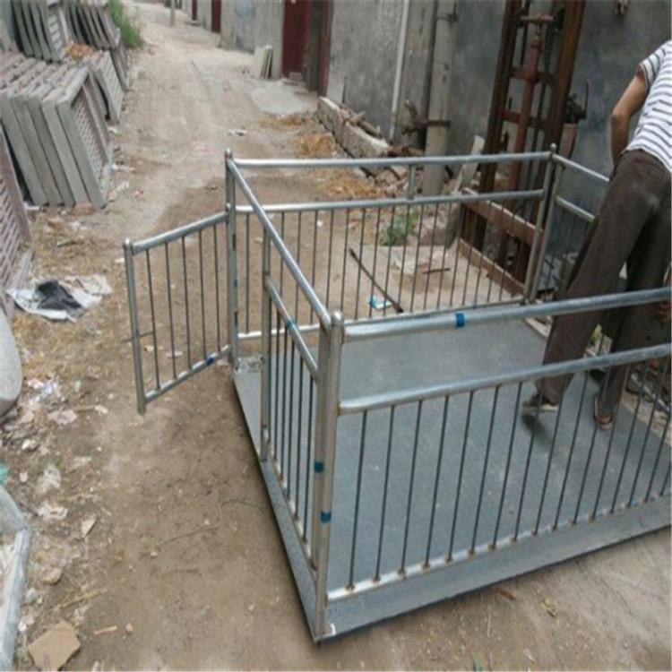 新疆塔城5吨动物地磅秤 屠宰场称重畜牧秤