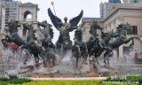 安徽水景玻璃鋼雕塑 廣告景觀仿銅鑄雕塑 玻璃鋼彩繪雕塑