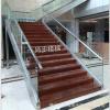 不鏽鋼龍骨 實木踏板商場直線式樓梯
