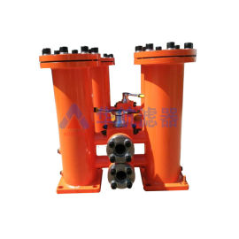 碳钢双筒过滤器华航定制生产液压油过滤器