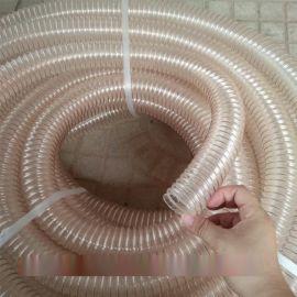 浙江金华耐高温pu钢丝吸尘软管  工业吸尘器用