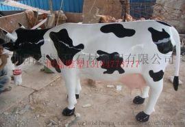玻璃钢彩绘牛雕塑的定制厂家