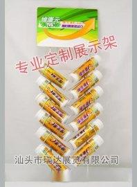 饮料口香糖铁挂架,润喉糖收银台架,泡腾片广东江西安徽展架