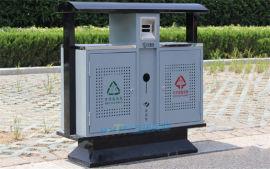 公园垃圾桶大号环卫垃圾桶分类钢板垃圾箱广场垃圾箱