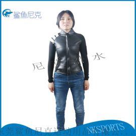 厂家直销3mm光皮保暖防寒潜水衣