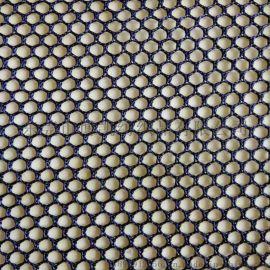 厂家供应涤纶经编六角网眼布 透气弹力单层网布 箱包洗衣袋座椅面料