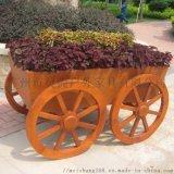 小區園林綠化花車全花實木製作