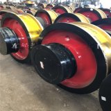 φ500x130单边从动车轮组 脚箱铸钢行走轮 轴承7524国标行车轮子