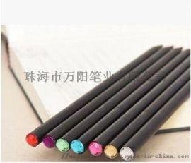 简约实用黑木HB铅笔 创意大气镶嵌水钻文具用品