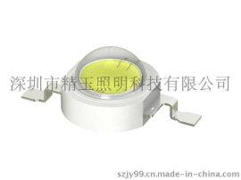 厂家直销1W大功率灯珠光宏芯片光通量120-130LM色温6000K