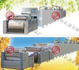 泗水新力食品机械热风辐射混合燃气隧道炉
