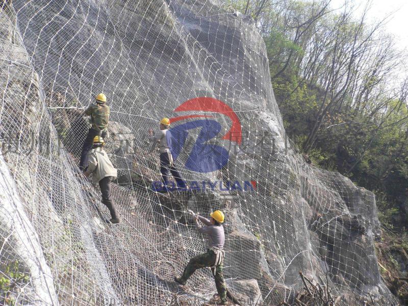贵州高强度边坡防护网,钢丝绳边坡防护网厂家直销