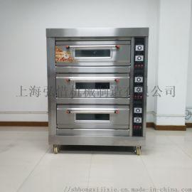 三层六盘电热烤箱 不锈钢商用面包披萨烤炉
