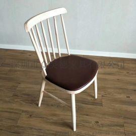 餐厅北欧实木餐椅定做工厂,现代中餐椅火锅餐饮店椅子