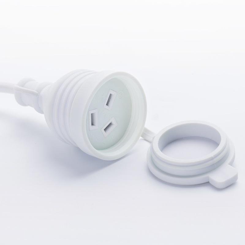 电源插头延长线 三芯防水插洗衣机冰箱室外接线