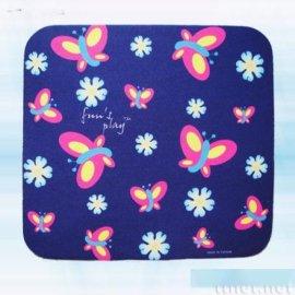蓝底蝴蝶滑鼠垫(AW-019)