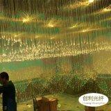 網紅餐廳星空走廊光纖吊燈亂草星空頂滿天星酒吧LED光纖燈纖維燈