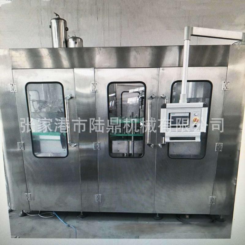 陆鼎机械果粒汁饮料灌装机 含气碳酸瓶装自动饮料机械加工