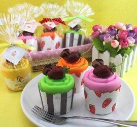 廠家直供訂制廣告創意禮品環保滌綸牛津布印花蛋糕造型購物袋