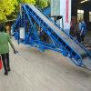 化肥锯末装车上料用8米长钢丝绳皮带输送机Lj8