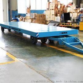10吨叉车牵引无动力平板车工业拖车供应商