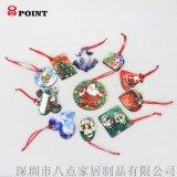 热转印定制木版画个性照片圣诞节日装饰圣诞树挂件