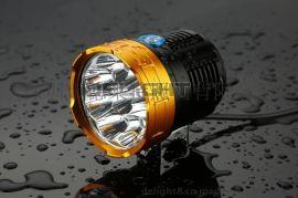 9颗T6亮度7200流明LED自行车灯 夜骑专用高亮自行车灯 多粒LED自行车灯