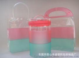 厂家专业订做PVC各种化妆袋 PVC按钮袋 PVC手挽袋 规格不限