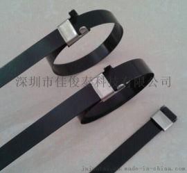 不锈钢扎带 包塑、喷塑锁紧式扎带