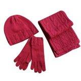 內蒙古工廠直銷羊絨圍巾帽子手套三件套倆件套